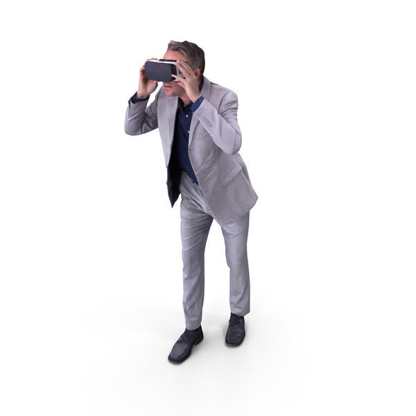 Man With VR Posed PNG & PSD Images