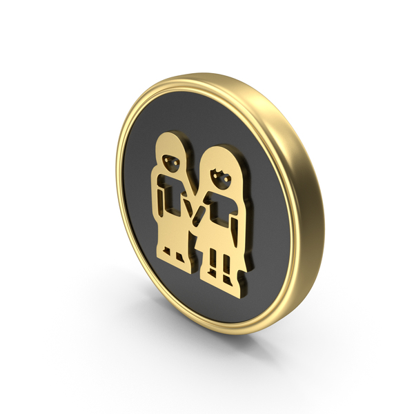 Man Women Holding Hands Coin Logo Icon PNG & PSD Images
