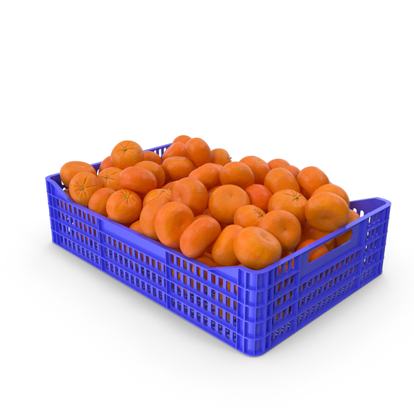 Mandarin Orange Crate PNG & PSD Images