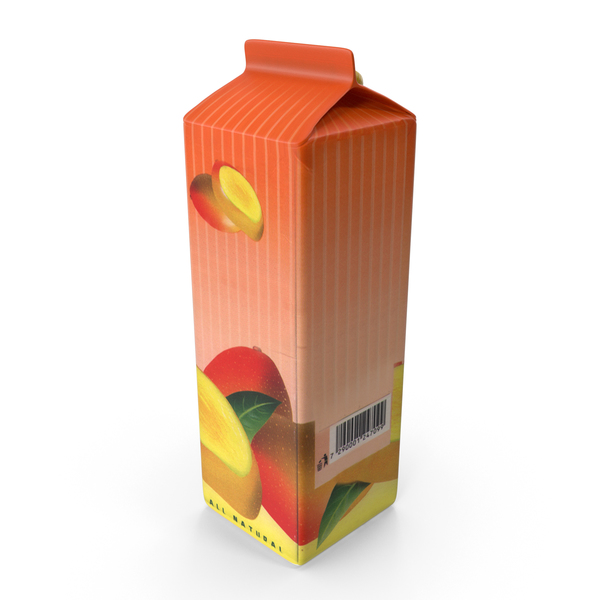 Drink Container: Mango Juice Carton PNG & PSD Images