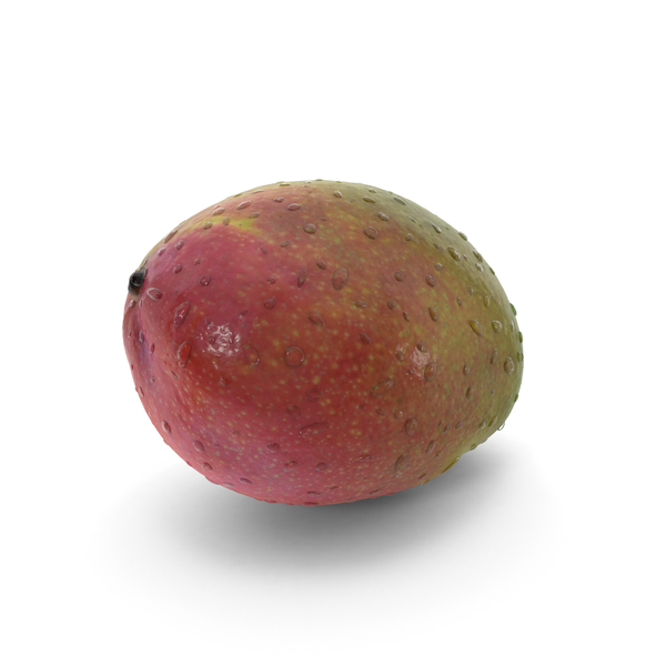 Mango with Water Droplets PNG & PSD Images