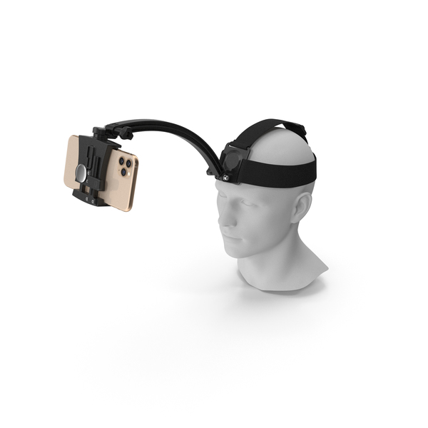 Cell Phone Mount: Mannequin Head with Smartphone Holder PNG & PSD Images