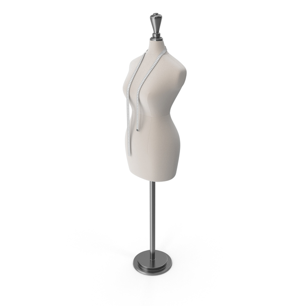 Mannequin with Measuring Tape PNG & PSD Images