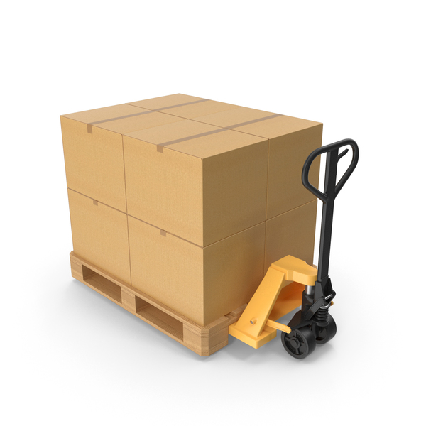 Manual Hydraulic Loader With Pallet PNG & PSD Images
