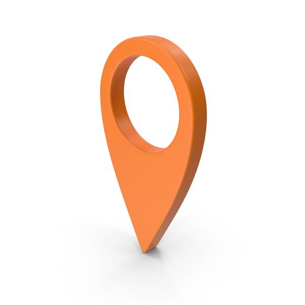 Map Location Sign Orange PNG & PSD Images