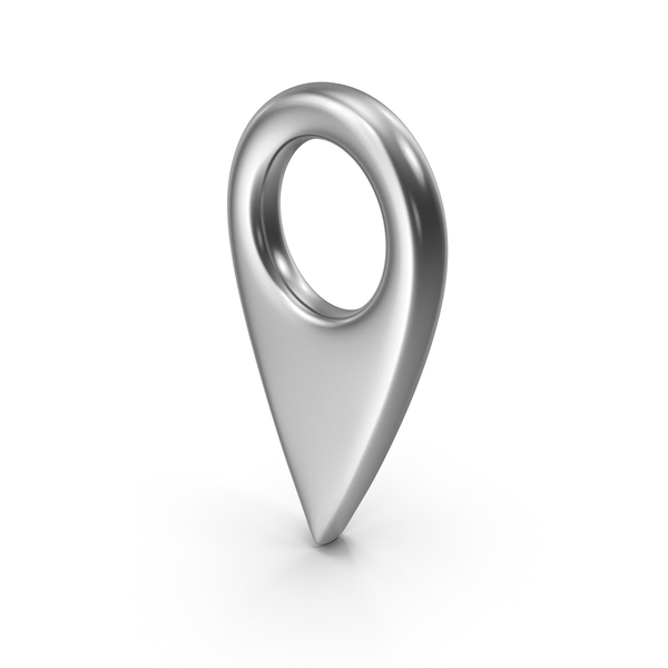 Map Pin Silver PNG & PSD Images