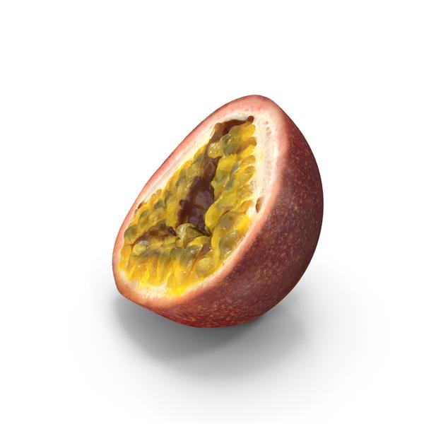 Fruit: Maracuja Half PNG & PSD Images