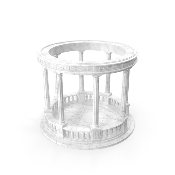 Marble Round Colonnade PNG & PSD Images