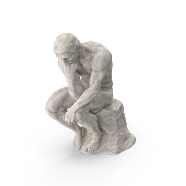 Marble The Thinker Statue PNG & PSD Images