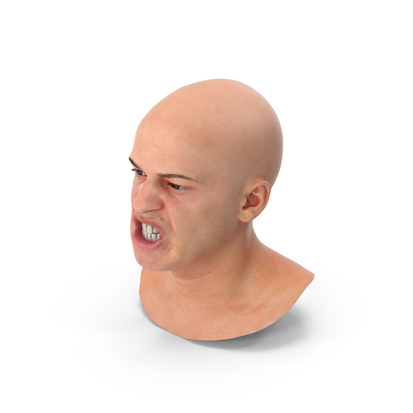 Male: Marcus Human Head Lip Funneler PNG & PSD Images