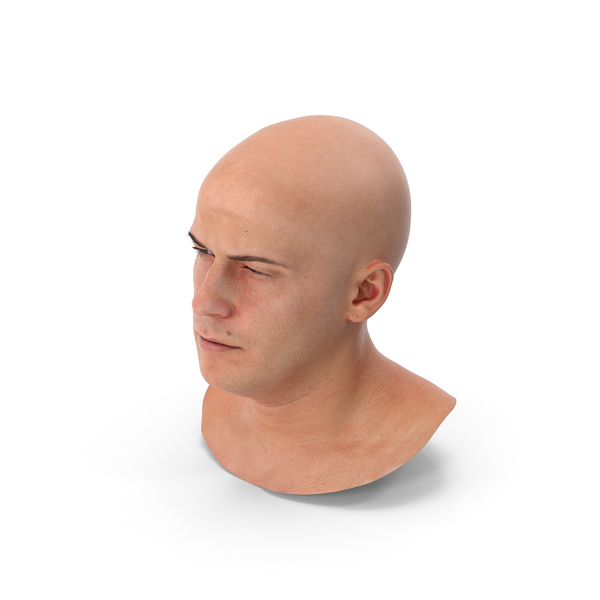 Male: Marcus Human Head Squint PNG & PSD Images