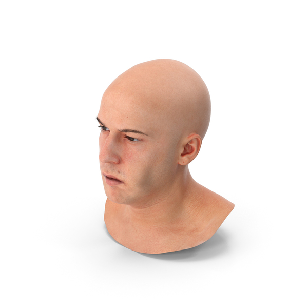 Marcus Human Head Tongue Bulge Left PNG & PSD Images