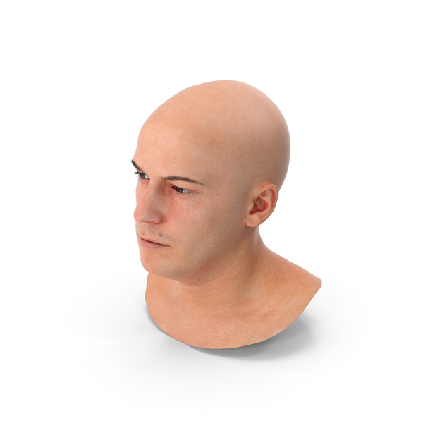 Marcus Real Human Head Neutral PNG & PSD Images