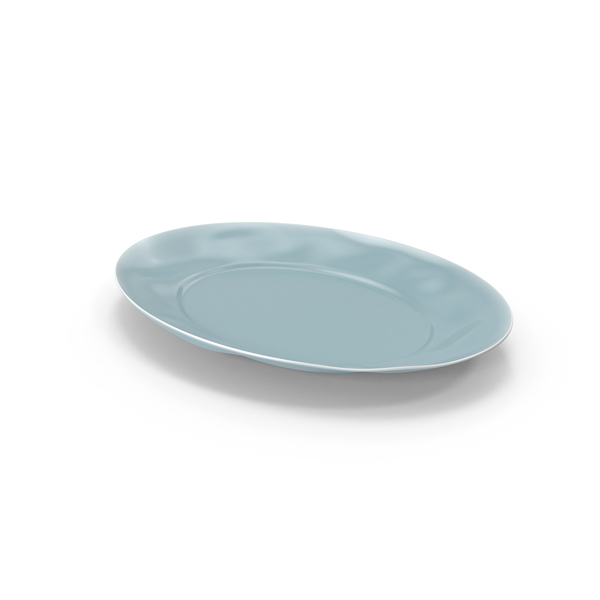 Marin Blue Large Oval Serving Platter PNG & PSD Images