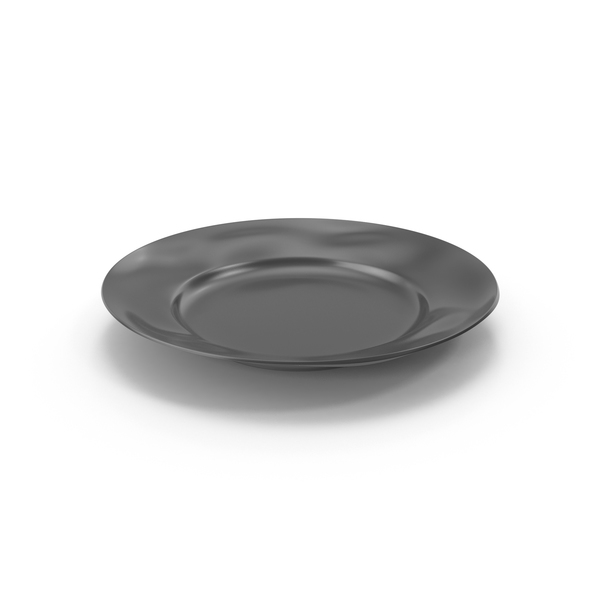 Marin Dark Grey Dinner Plate PNG & PSD Images