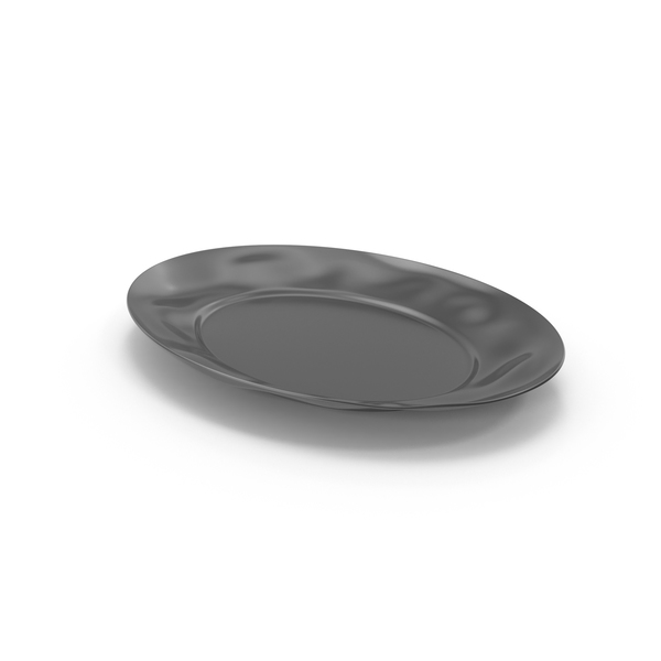 Marin Dark Grey Large Oval Serving Platter PNG & PSD Images