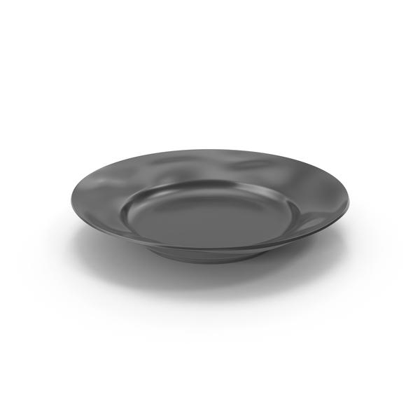 Marin Dark Grey Salad Plate PNG & PSD Images