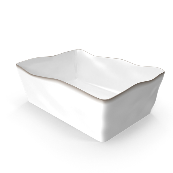 Marin White 10x7 Baking Dish PNG & PSD Images