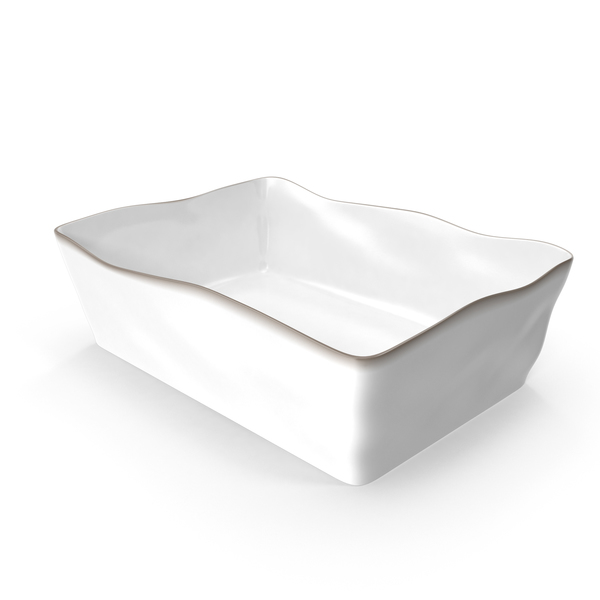 Marin White 12x8.5 Baking Dish PNG & PSD Images