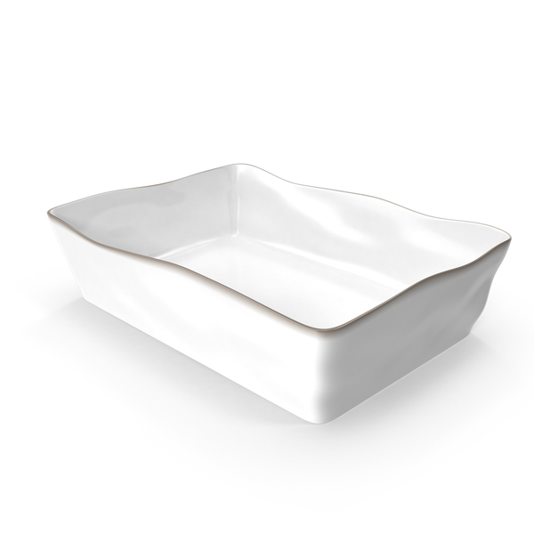 Marin White 13.5x10 Baking Dish PNG & PSD Images