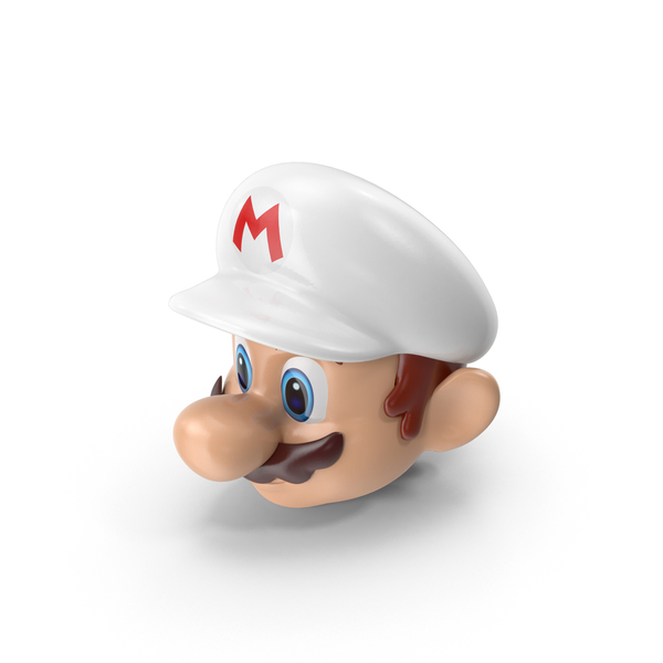 Mario Head with White Hat PNG & PSD Images