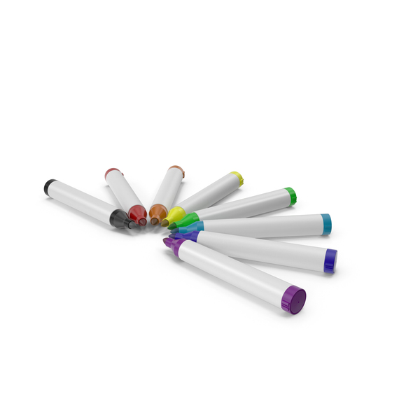 Marker Pens Circle PNG & PSD Images