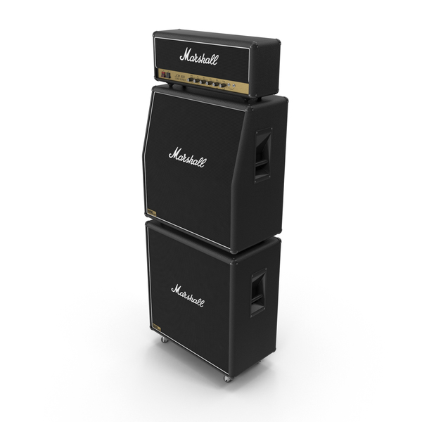 Guitar Amplifier: Marshall JCM 800  Full Stack PNG & PSD Images