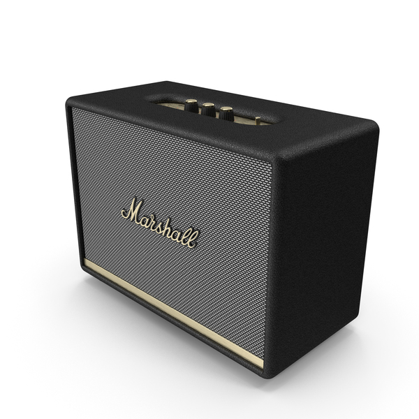 Marshall Woburn II Wireless Bluetooth Speaker Black PNG & PSD Images