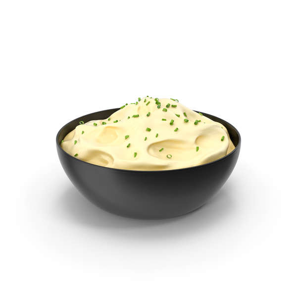 Potato: Mashed Potatoes In A Bowl PNG & PSD Images