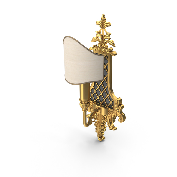 Masiero Baroque Wall Lamp PNG & PSD Images