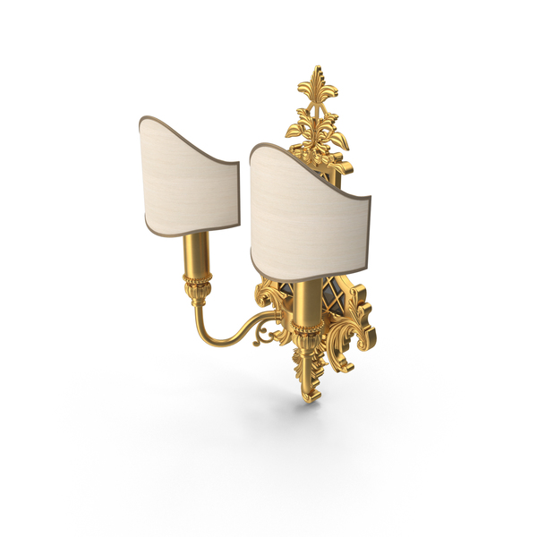 Masiero Luxury Baroque Wall Sconce PNG & PSD Images