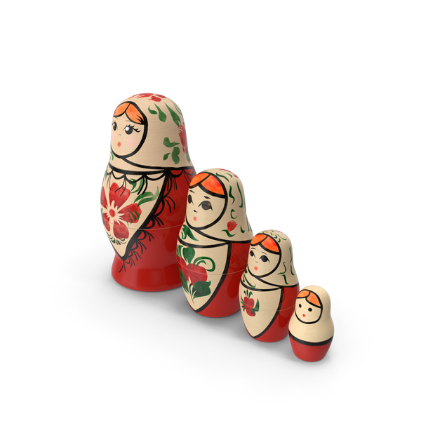 Matryoshka Doll Set PNG & PSD Images
