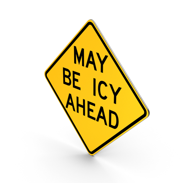 Traffic Signs: May Be Icy Ahead Nebraska Road Sign PNG & PSD Images