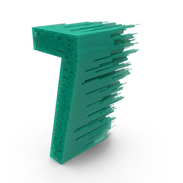 Alphabet Display: Maze Number 7 PNG & PSD Images
