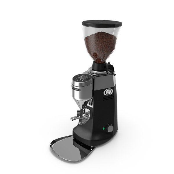 Mazzer Robur S Electronic Grinder with Coffee Beans PNG & PSD Images
