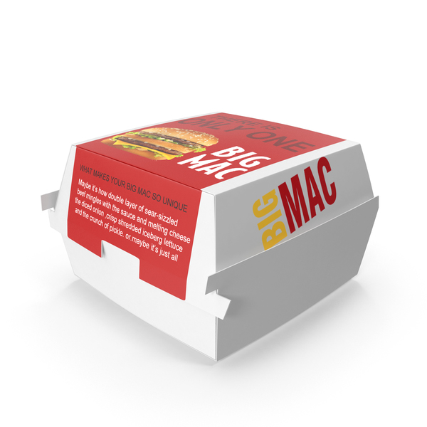 Snack Food And: McDonald's Big Mac Box PNG & PSD Images