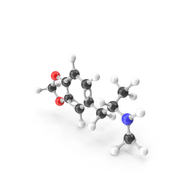 MDMA Molecular Model PNG & PSD Images