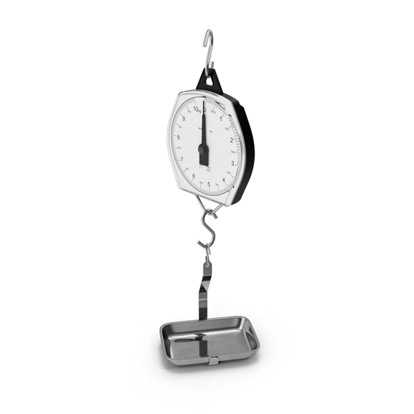 Mechanical Hanging Scales with Pan PNG & PSD Images