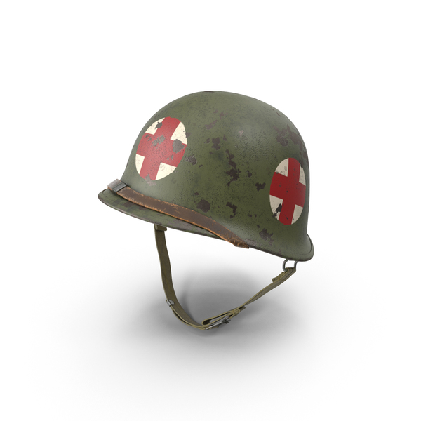 Medic M1 Helmet with Red Cross (WWII) PNG & PSD Images