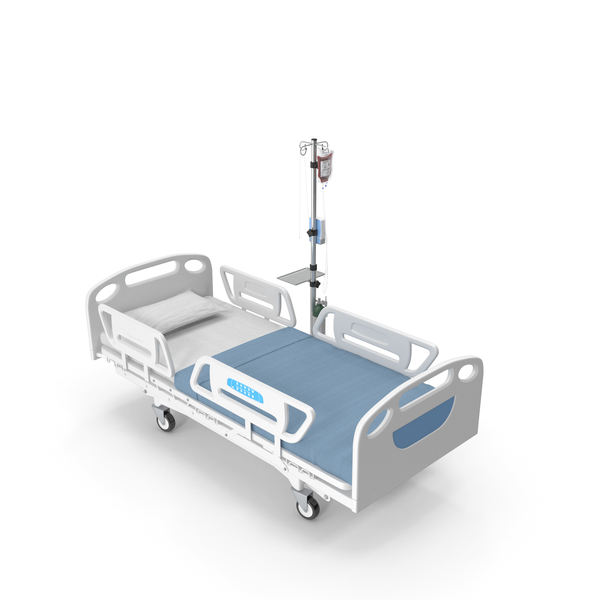 Medical Bed With IV Stand PNG & PSD Images