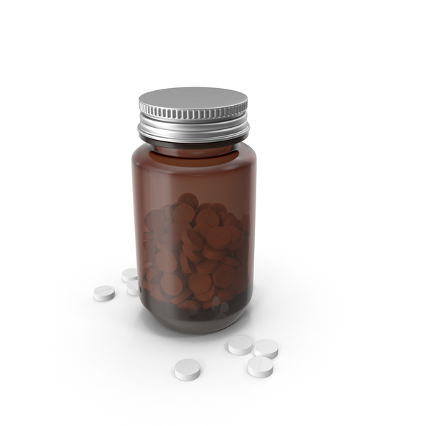 Medical Bottle with Pills PNG & PSD Images