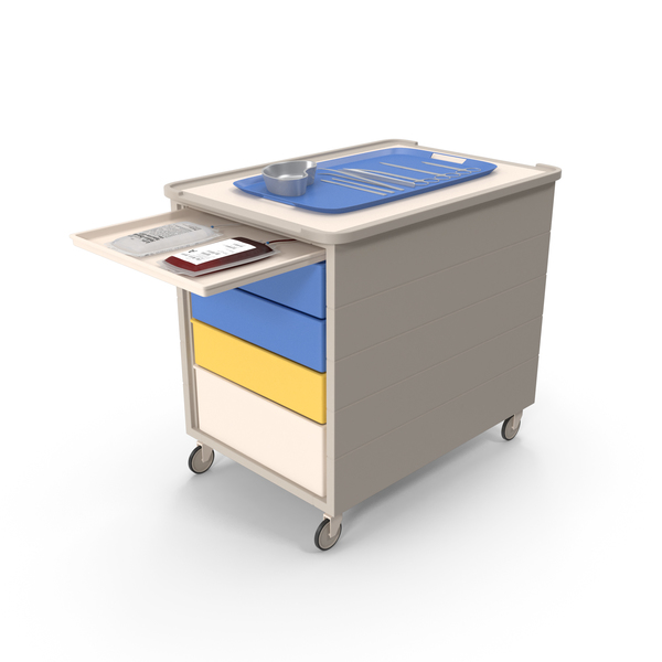 Medical Cart With Surgical Tools PNG & PSD Images