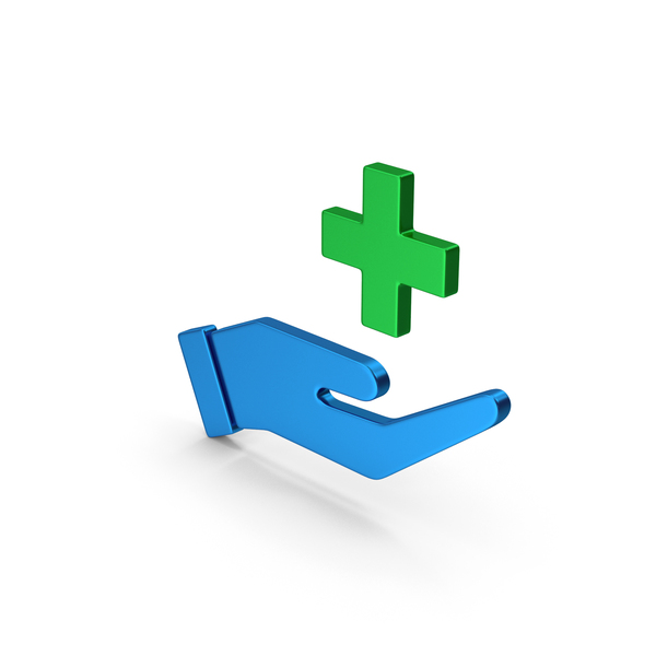 Caduceus: Medical Cross In Hand Colored Metallic PNG & PSD Images