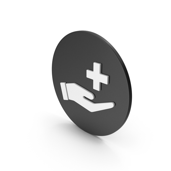 Caduceus: Medical Cross In Hand Icon PNG & PSD Images