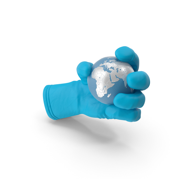 Medical Glove Holding a High Tech Earth PNG & PSD Images