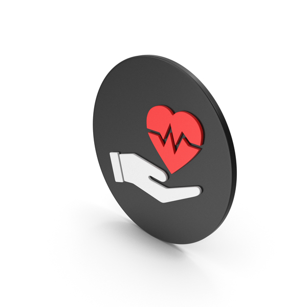 Heart Shaped Candy: Medical Heart In Hand Icon PNG & PSD Images