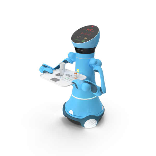 Industrial: Medical Service Robot with Medicine PNG & PSD Images