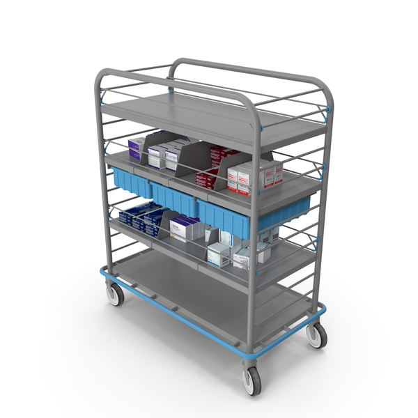 Lab Equipment: Medical Supply Cart PNG & PSD Images