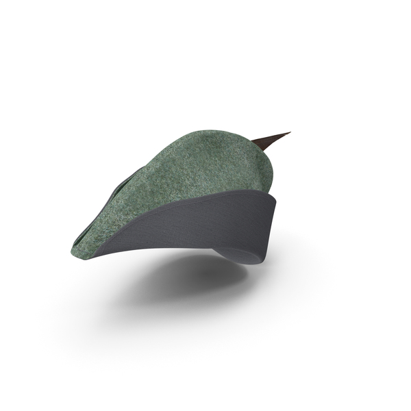 Hat: Medieval Archer Cap With Feather PNG & PSD Images