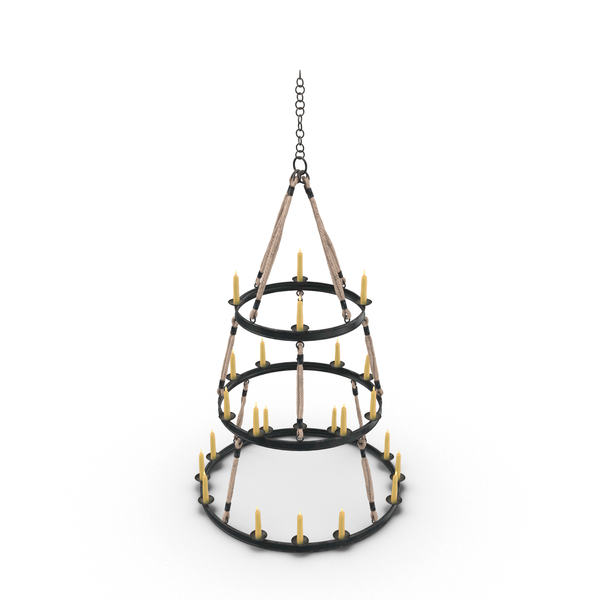 Medieval Candle Chandelier Object